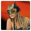 Maschera nera c/decorazioni in busta