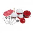 Batteria da cucina per bambine rossa
