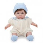 Bambola nonis mora vestito bianco 38 cm