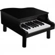 Pianoforte a coda nero in legno