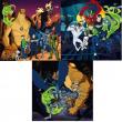 """Puzzle """"Ben 10 Ultimate Alien"""" 3x49 pezzi"""