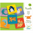 ColorAnimo puzzle animaux 12x2 pezzi in legno