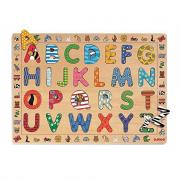Puzzle alfabeto in legno Djeco