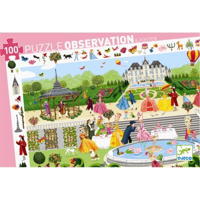 Puzzle osservazione party in giardino 100 pezzi