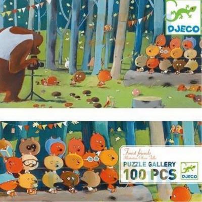 Puzzle 100 pezzi amici della foresta