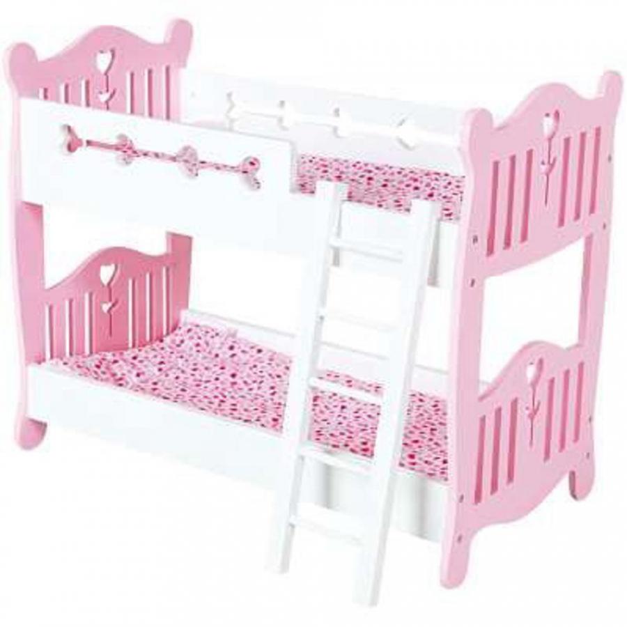 Letto a castello in legno per bambole giochi giocattoli - Giochi a letto per lei ...