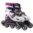 Pattini roller regolabili 33-36 bianco/viola