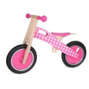 Bici pedagogica in legno rosa