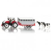 3870 Trattore Steyr CVT6230 con rimorchio bestiame Siku