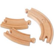 Binari set curve in legno beeboo