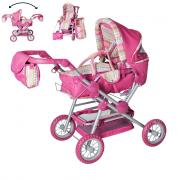 Carrozzina per bambole twingo s pink stripe