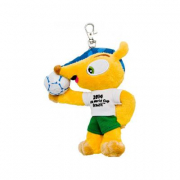 Mascotte Ufficiale Mondiali 2014 Fuleco peluche portachiavi