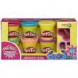 Play Doh con glitter 6 barattoli