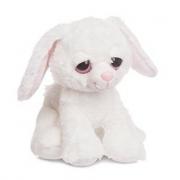 Coniglio peluche bianco 30cm