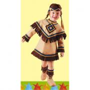 Principessina sioux costume 2/3 anni