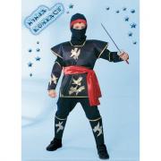 Ninja kombact costume 7/8 anni
