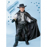Cavaliere nero costume 7/8 anni