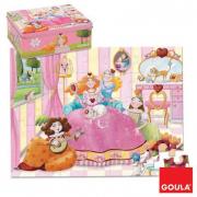 Puzzle Principessa 35 pezzi scatola latta Goula