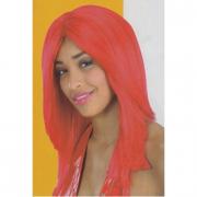 Parrucca rossa liscia in busta