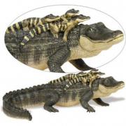 Alligatore con baby cm. 29 Safari Ltd