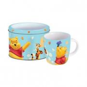 Portabiscotti in latta con tazza Winnie the Pooh