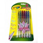 6 Penne gel glitter