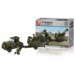 Jeep militare e cannone antiaerea