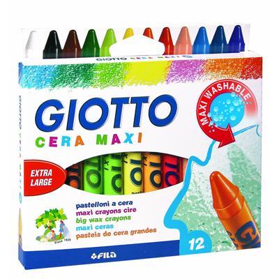 Pastelli a cera Giotto 12 colori