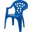 Sedia in plastica blu