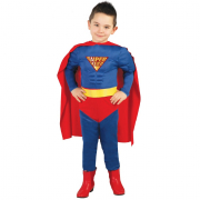 Costume superman muscle hero 5/6 anni