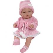 Bambola neonata rosa 42cm in gomma articolata