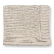 Copertina in cotone liscia beige 80x110cm