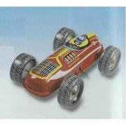 Auto da corsa bifacciale in latta a carica