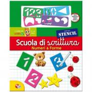 Libro Scuola di scrittura con stencil - numeri e forme