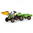 023134 Rollykid-x verde con ruspa e rimorchio Rolly Toys