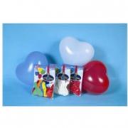Palloncini a forma di cuore 15 pezzi colori assortiti
