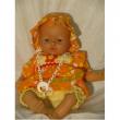 Bambola Trousseau arancione e gialla cm. 36