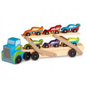 Mega camion trasportante auto in legno