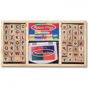Stampini alfabeto in legno