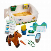Set accessori con un cavallo peluche