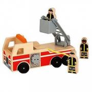 Camion dei pompieri in legno