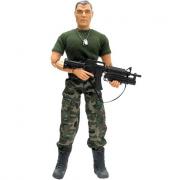 Militare 30cm mimetica e maglia verde