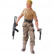 Militare mimetica e maglia beige 30cm