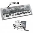 Pianola elettronica con microfono e 61 tasti
