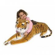 Tigre gigante in peluche cm 95