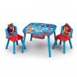 Paw Patrol tavolino e 2 sedie in legno