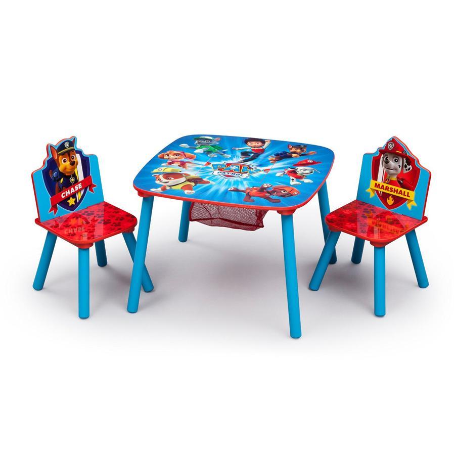 Paw Patrol Tavolino E 2 Sedie In Legno Giochi Giocattoli