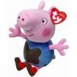 Peppa Pig peluche George maglia macchiata 15 cm