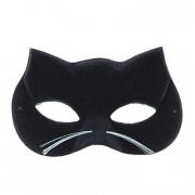 Mascherina gatto scamosciata con baffetti