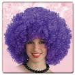 Parrucca ricciolona viola in valigetta